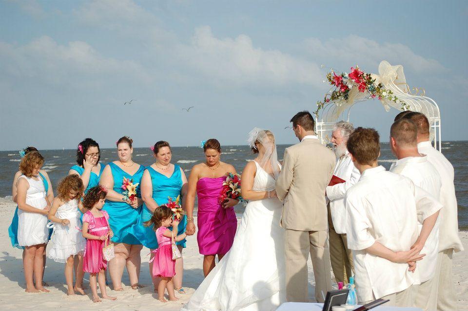 My Hot Pink and Aqua beach wedding