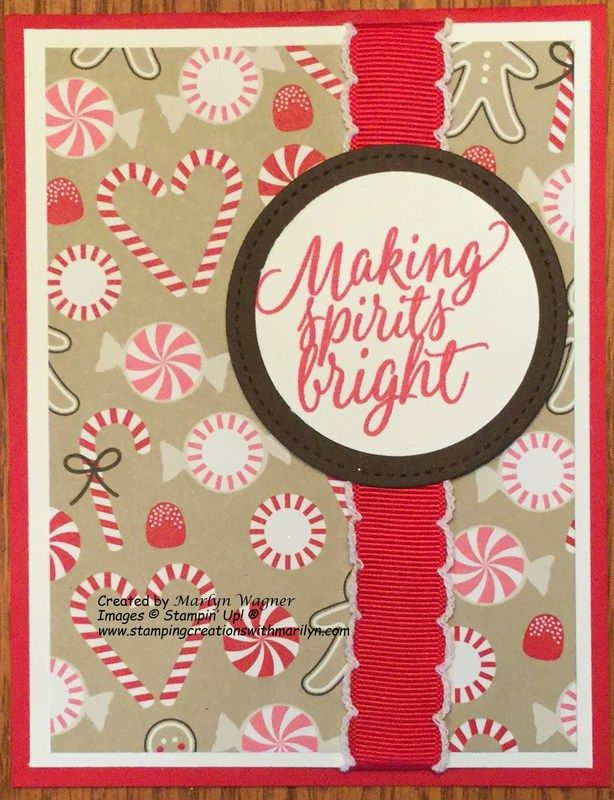 Candy Cane Meets Tin of Tags Stamp Set! on Stamping Creations With Marilyn blog. Visit my blog for updates & to sign up for my newsletter!