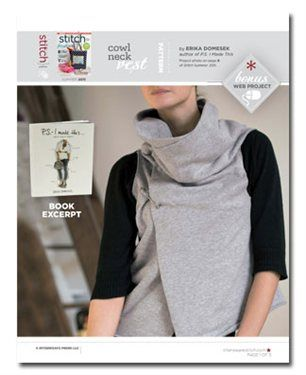 Free Sewing Pattern: Cowl Neck Vest | Cowl neck, Sewing patterns ...