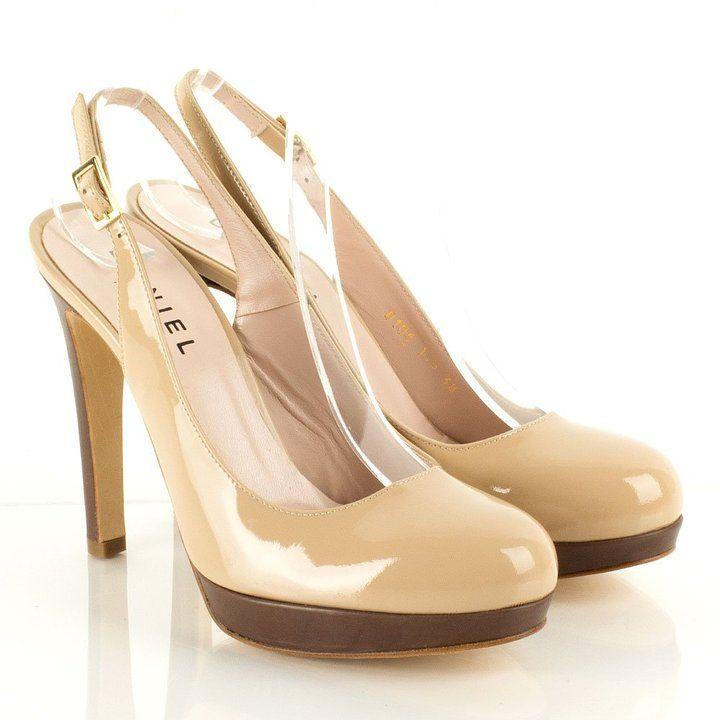 Daniel Beige Emac Women's Sling Back High Heeled Shoe on shopstyle.co.uk