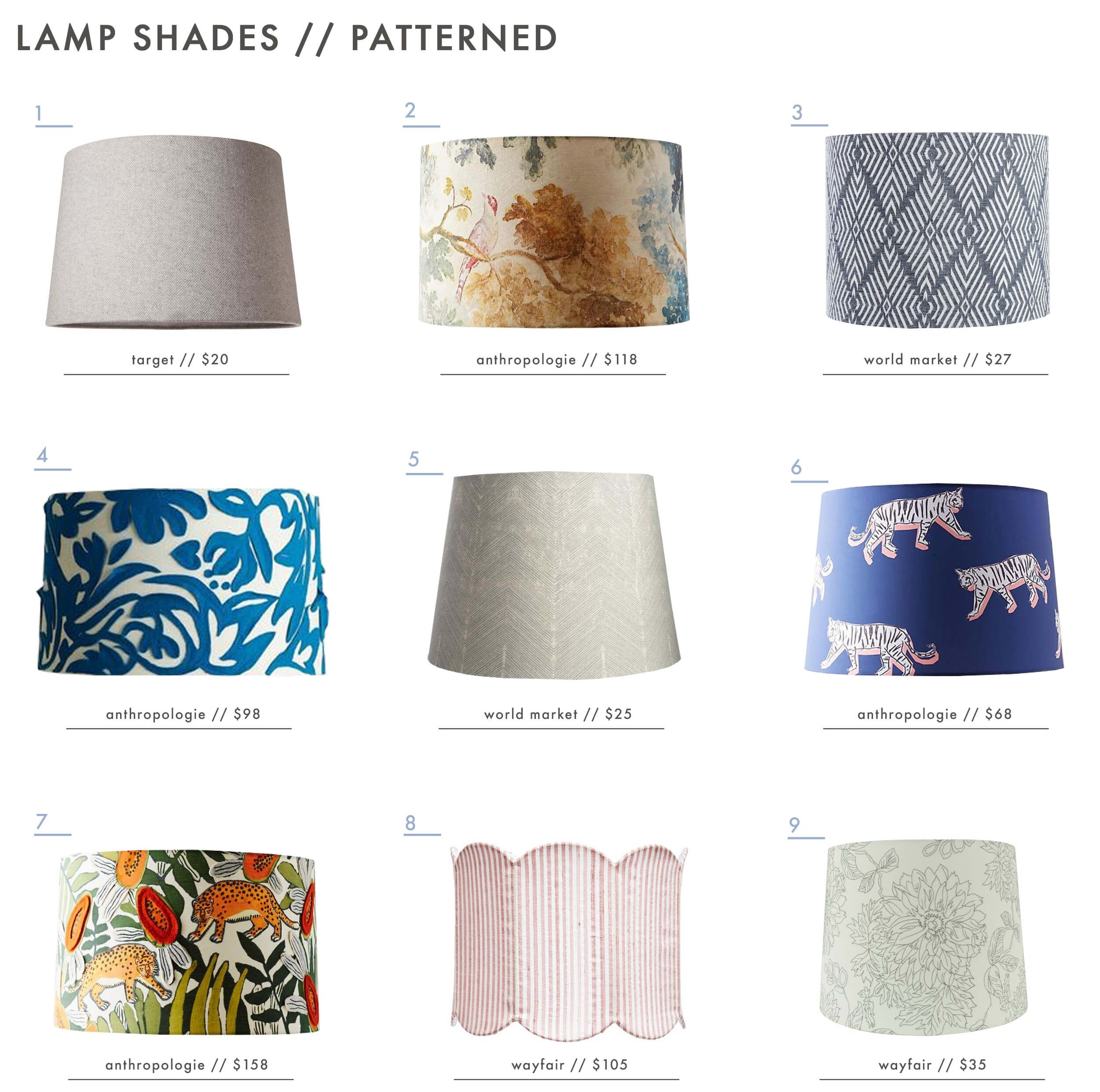 The Surprising Value Of Colored Textured Or Patterned Lampshades Emily Henderson Patterned Lampshades Lampshade Designs Colorful Lamp Shades