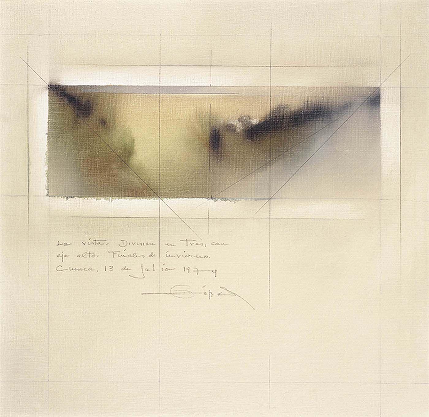 La Vista X, 197440 x 40 cms. Óleo sobre lienzoColección privada
