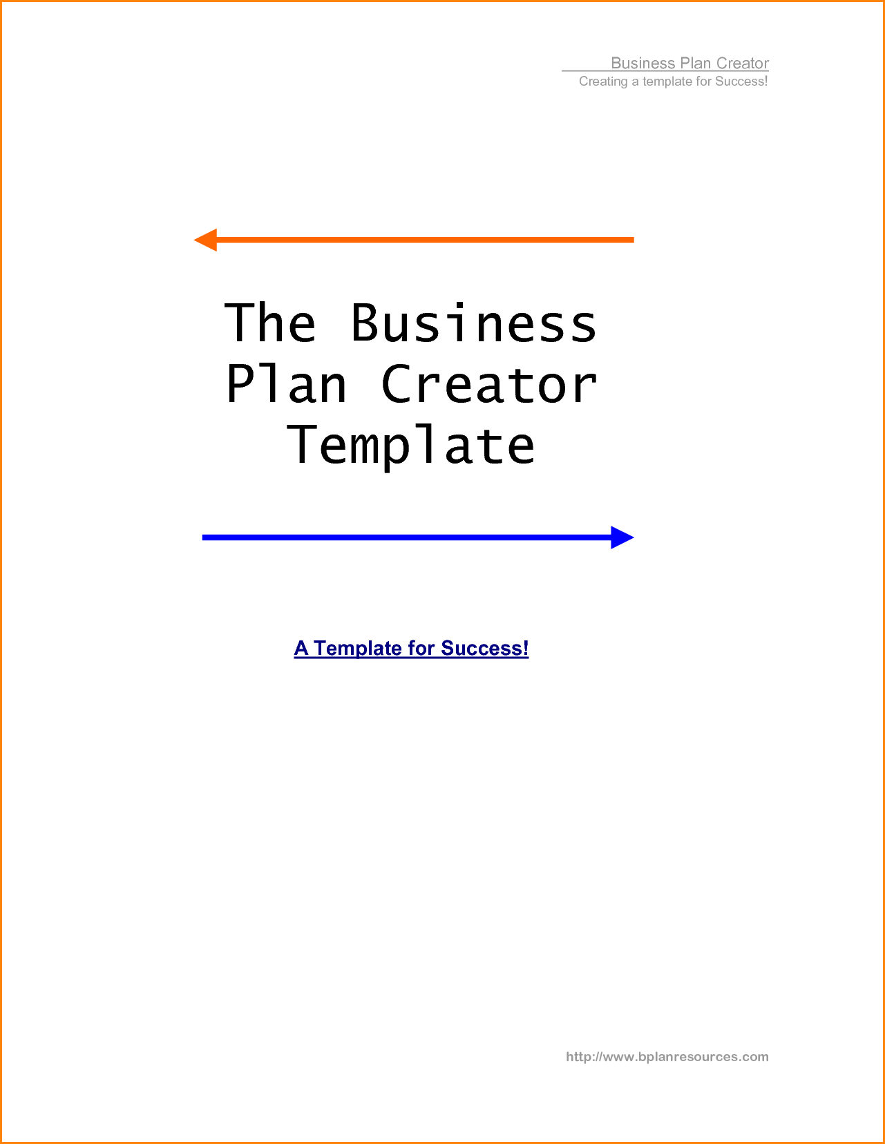 Personal Business Plan Template These Will Be Included In Your - Personal business plan template
