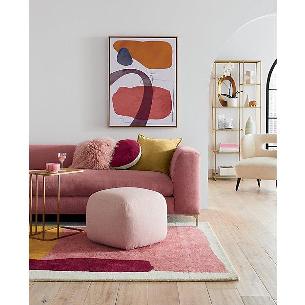 Joplin Multi Rug Crate And Barrel In 2020 Pink Sofa Living Room Pink Living Room Home Decor