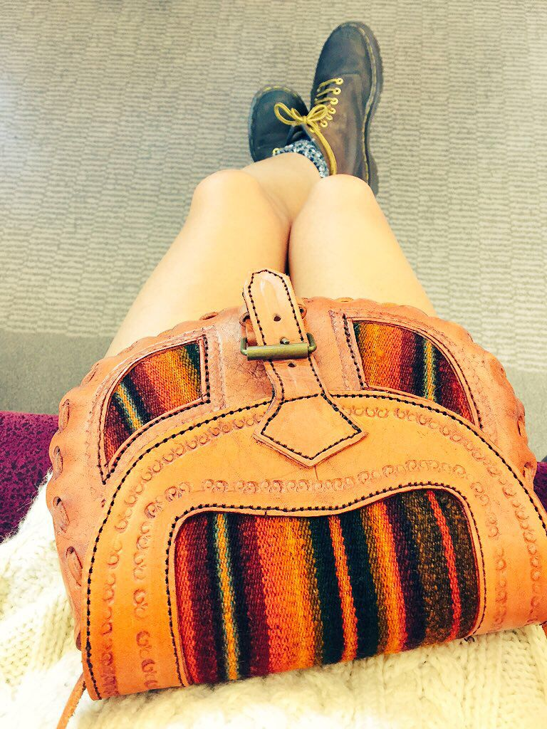 #myleg #fashion #me #hippie #girl #love #knit #drmartens #boots #outfit #letherbag