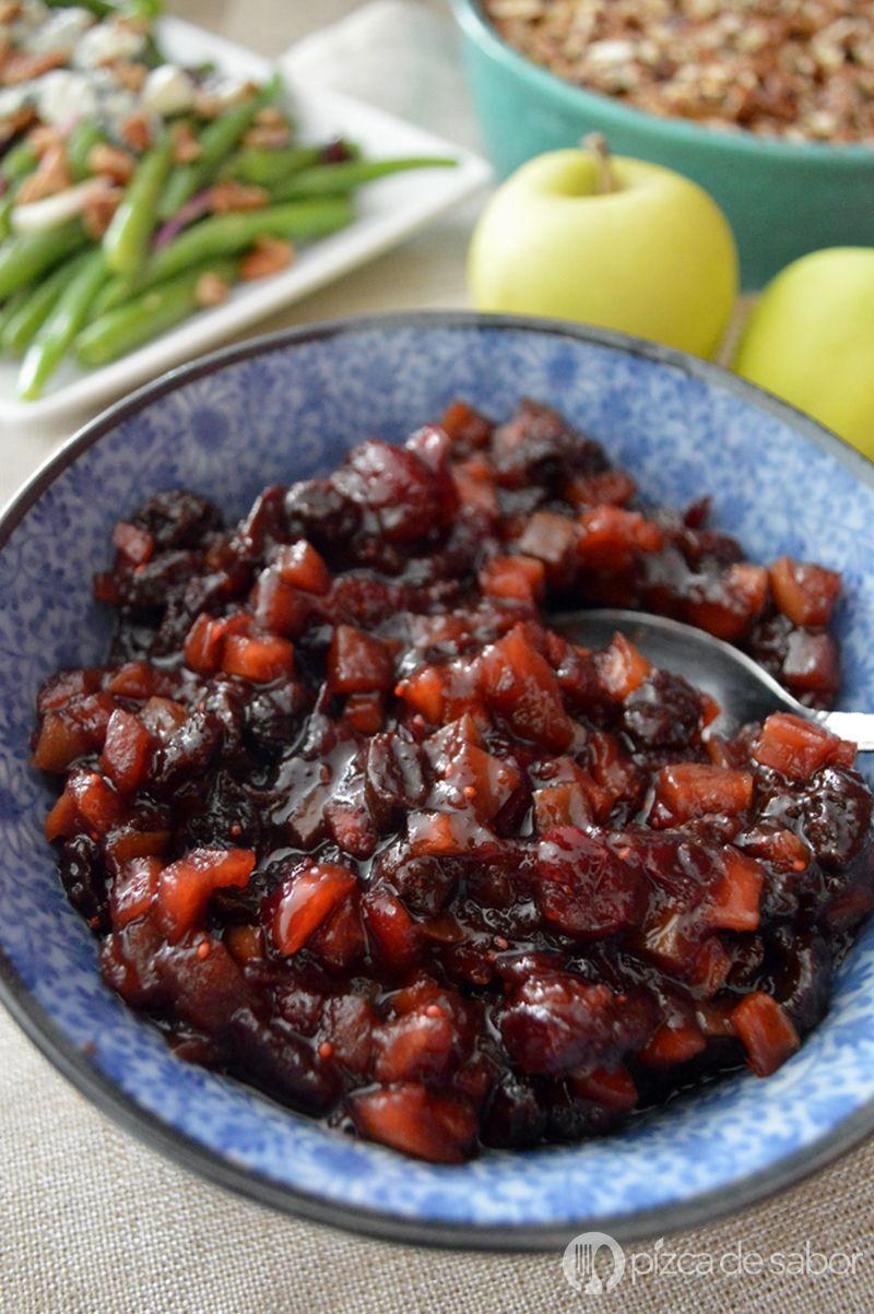 Chutney de manzana y arándanos, para tu cena de Navidad o Año nuevo. Queda riquísimo para servir con el pavo o de entradita con queso crema y galletas.