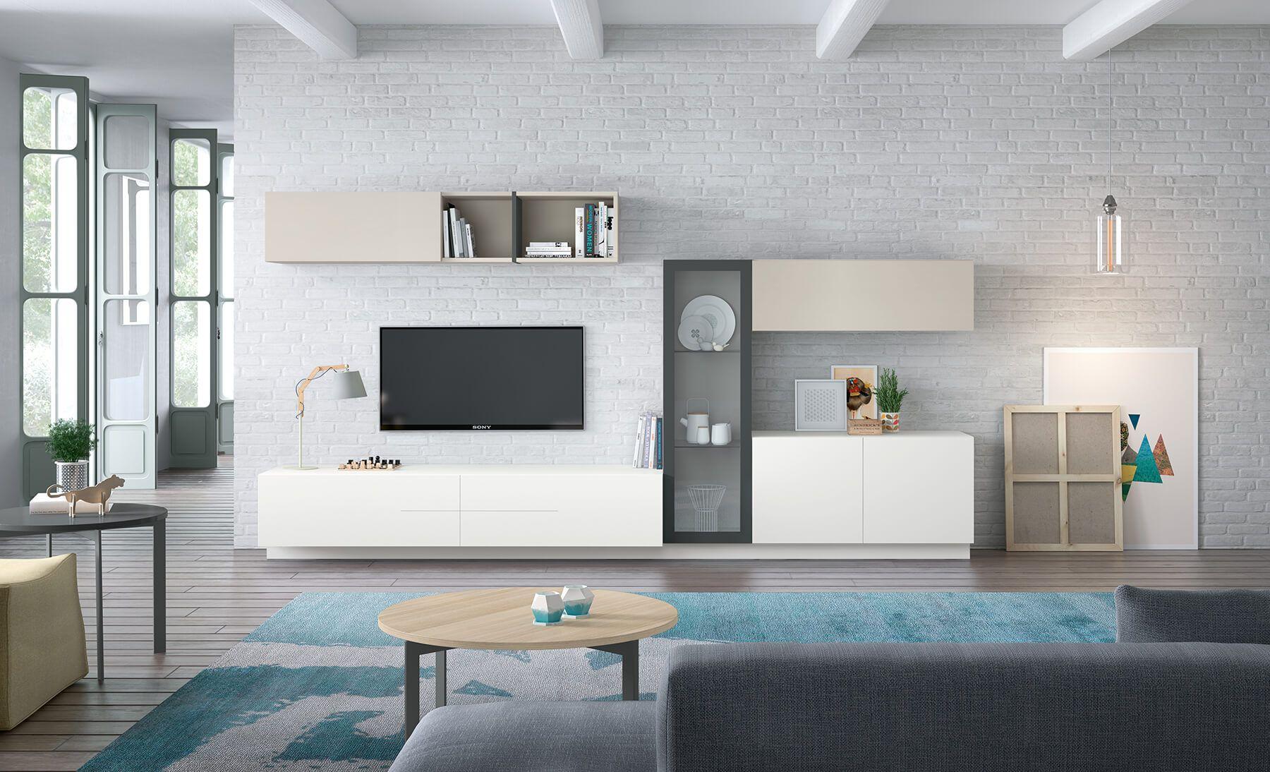 Muebles De Salón Pensado Para Estancias Grandes Combina