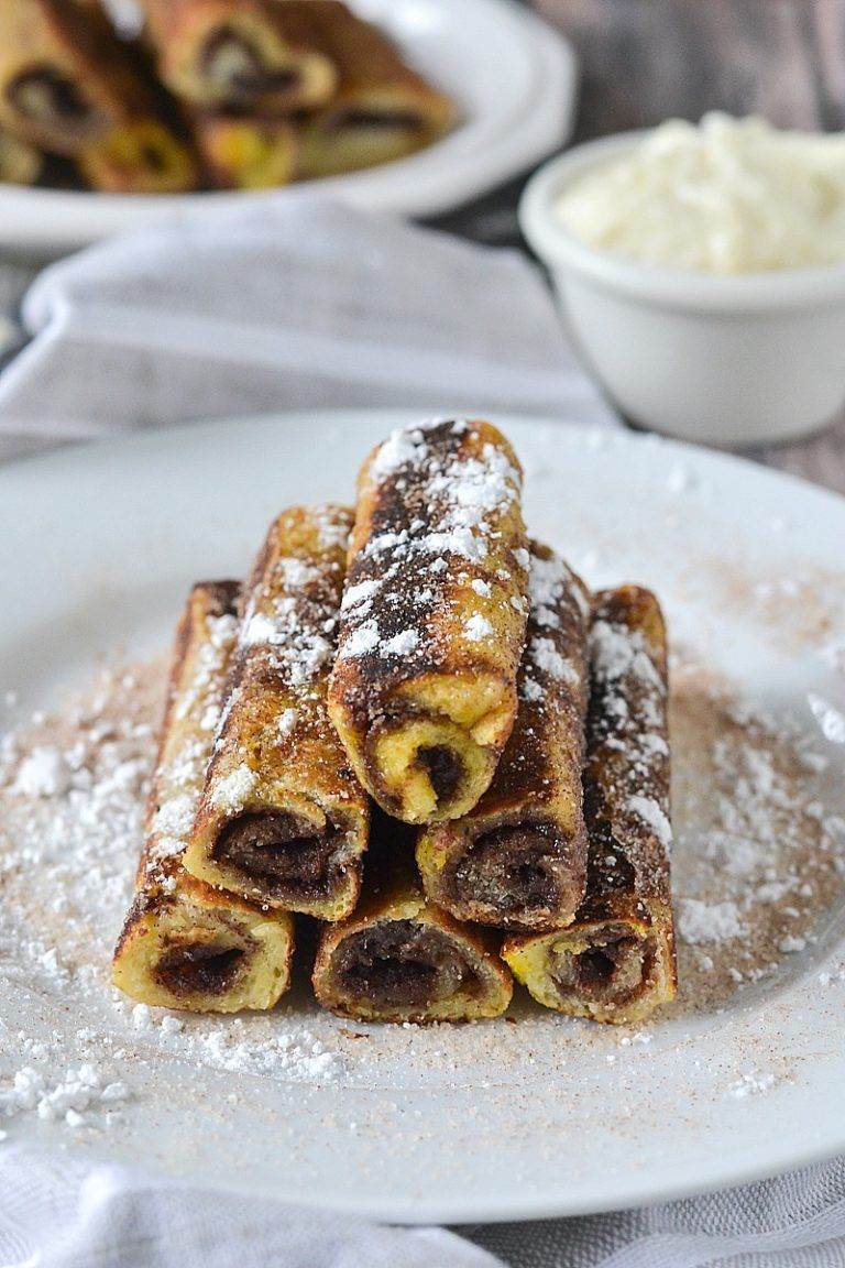 Cinnamon Roll French Toast Roll Ups   Recipe in 2020 ...
