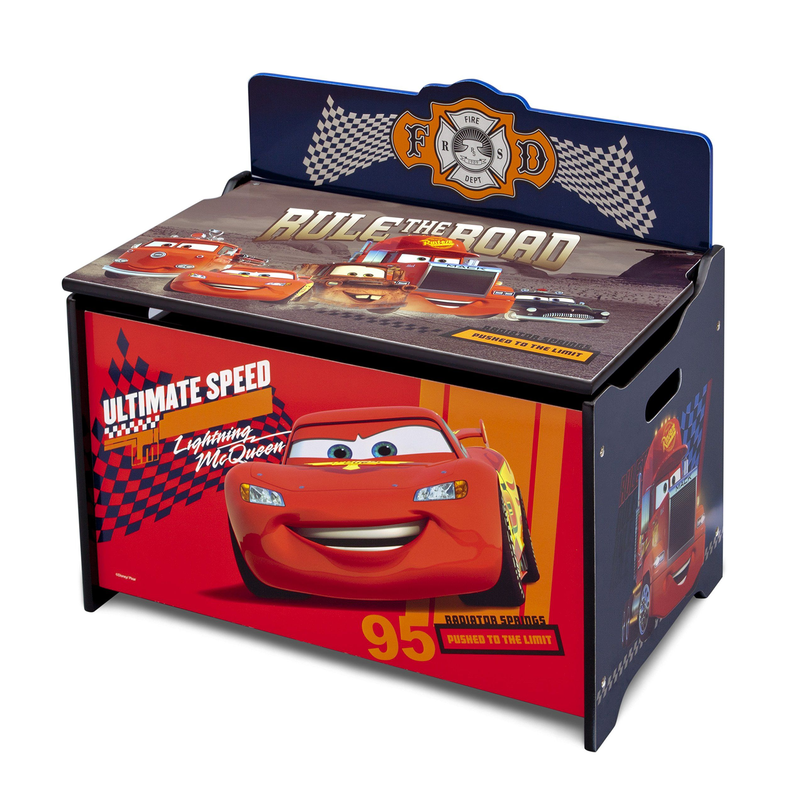 Delta Children Deluxe Toy Box Disney Pixar Cars Details Can Be Found By Clicking On The Image It Is Amazon Affilia Toy Storage Bench Toy Chests Cars Toy Box