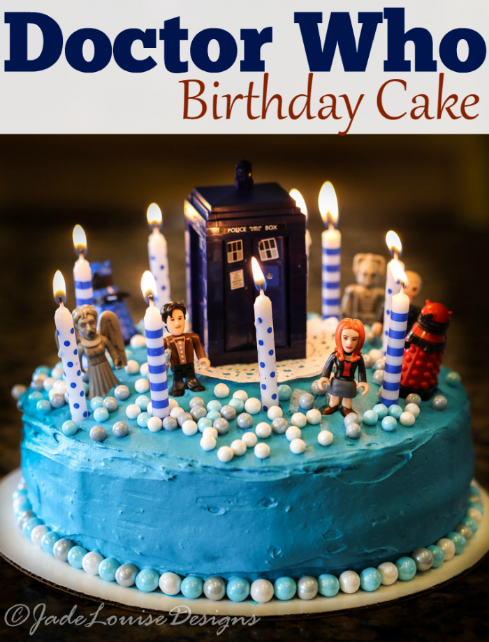 Doctor Who Cake Tutorial perfect Birthday Cake Idea Devils food
