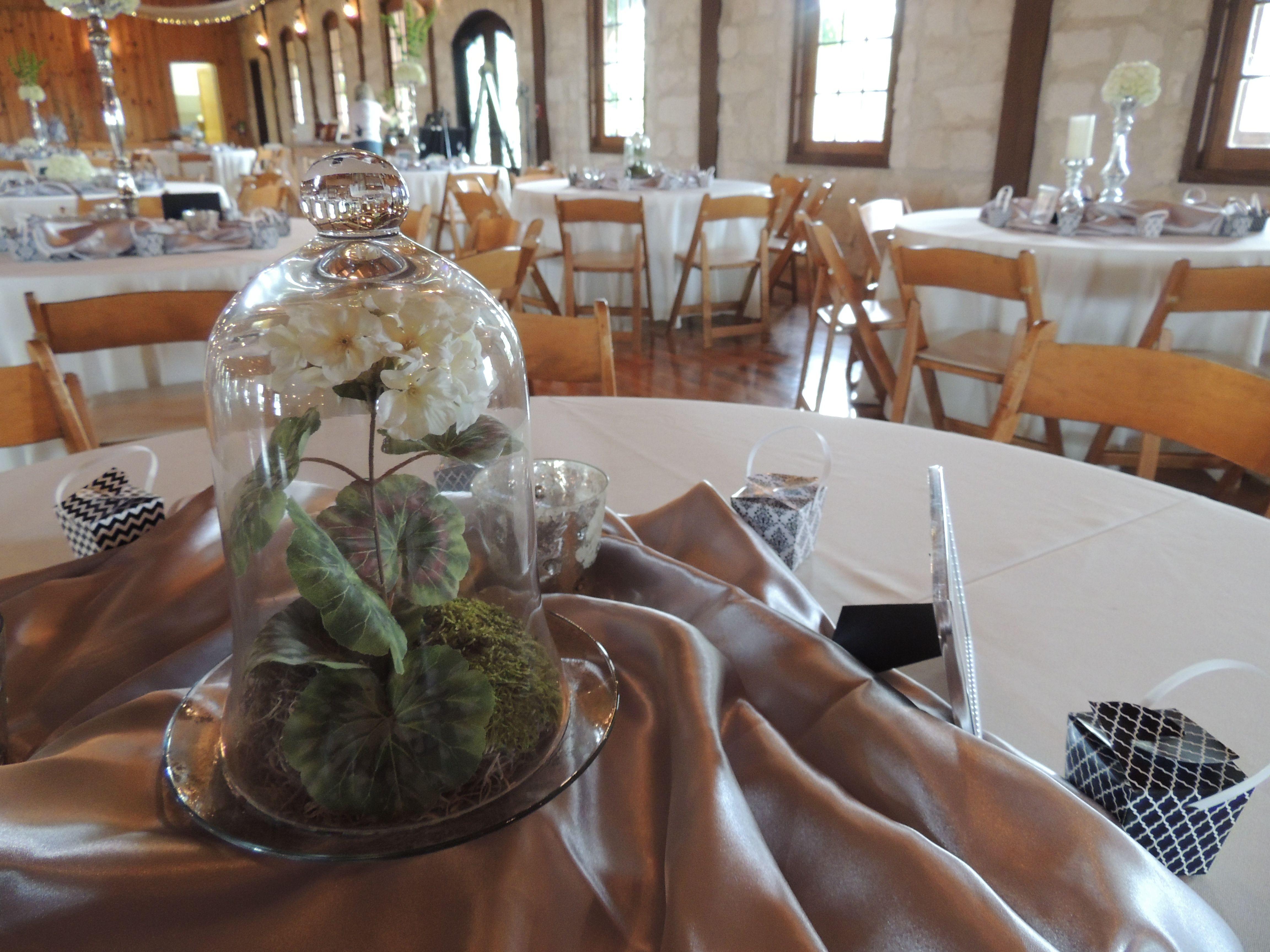 Centerpiece Tall Short Silver Vase Domed Flower Jar Lime Green