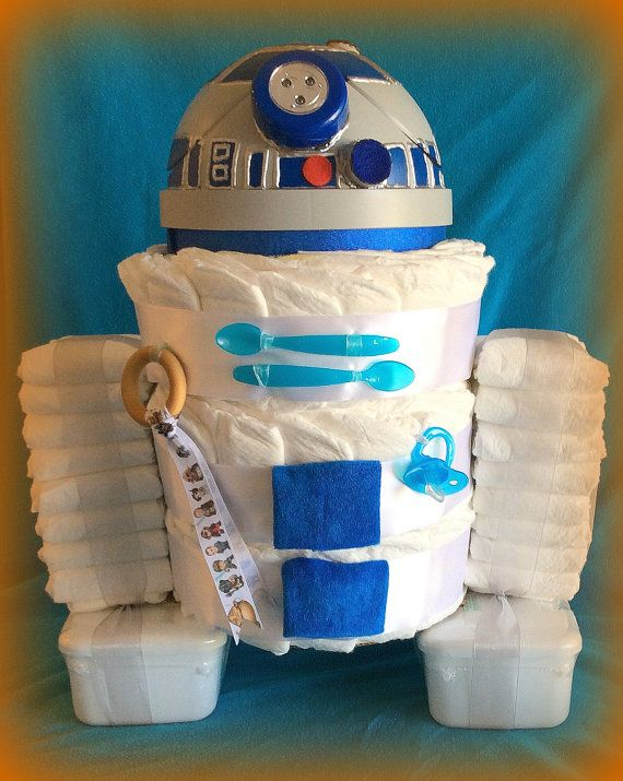 Personalized r2d2 custom diaper gift wastebasket for Baby shower cost