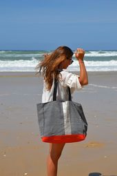 Bolso de mano grande | Bolsa de viaje para mujer | Bolsa de playa | Totalizador vegano para el profesor | Muchacho…