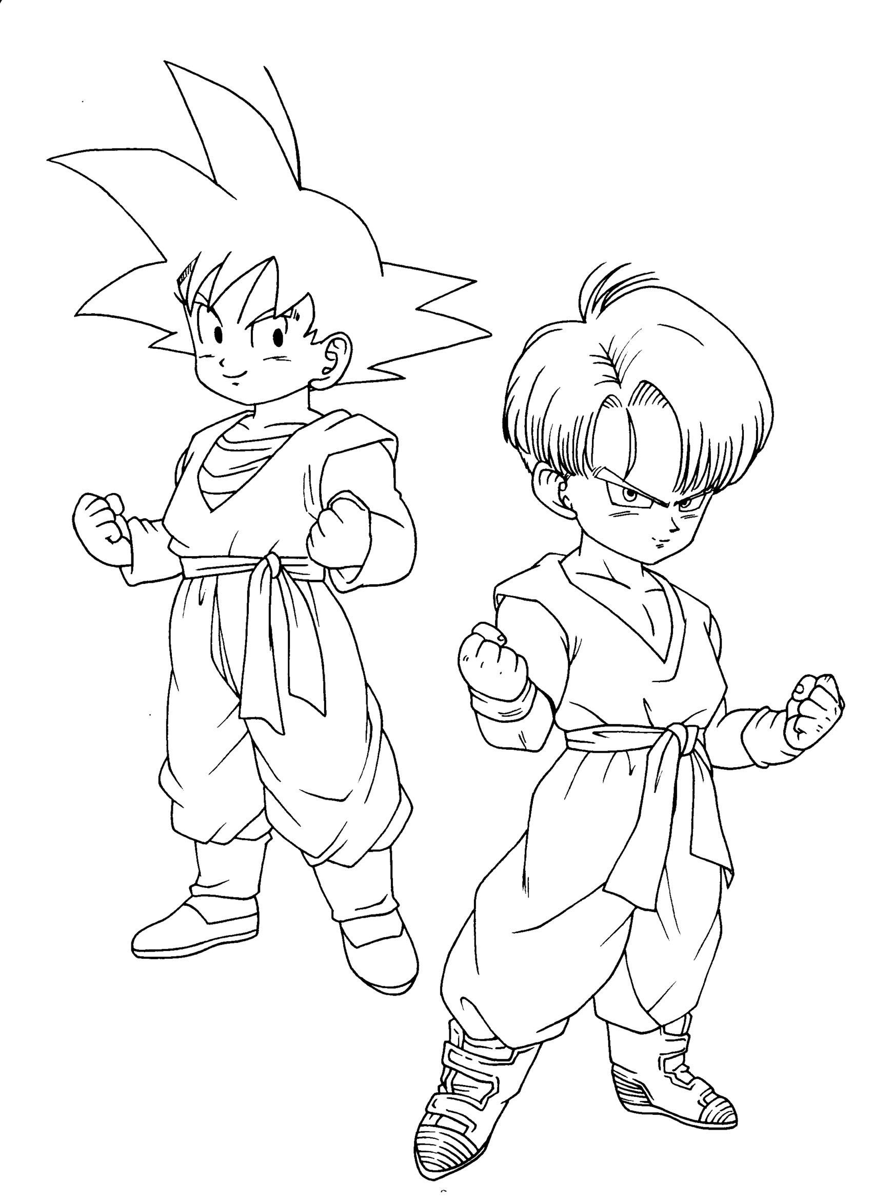 Pin de T m en Dragon Ball Coloriage