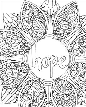 Hope Creative Coloring Mandala Expressions Coloring pages