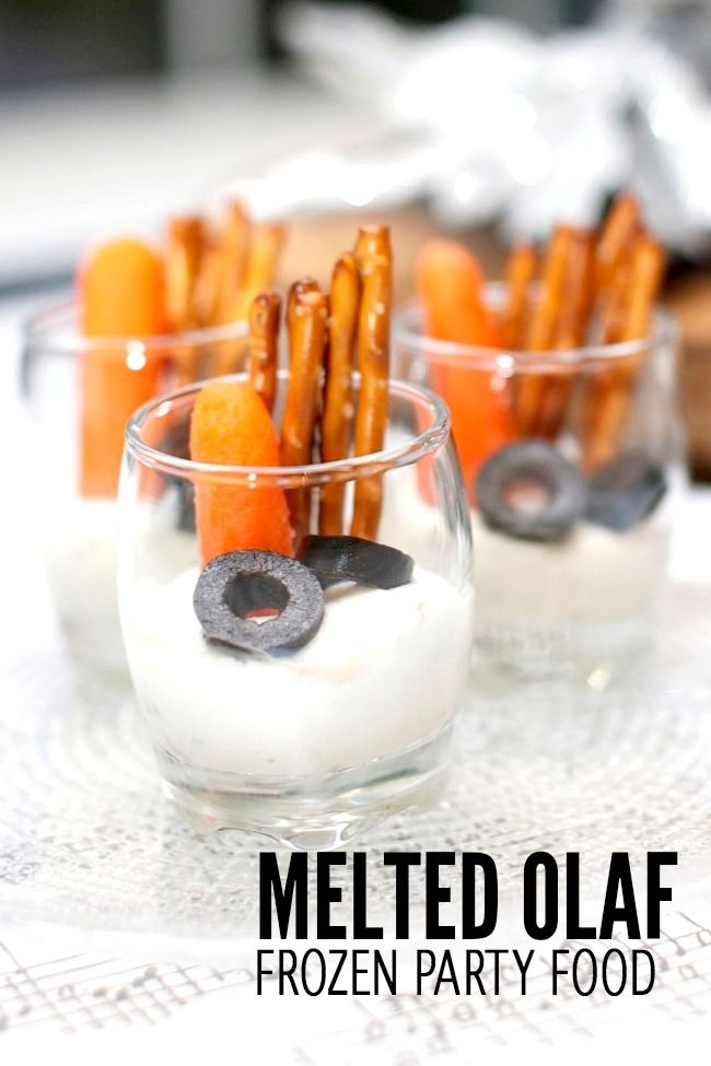 Kids Party Food Melted Olaf Snack Idea Frozen Ideas