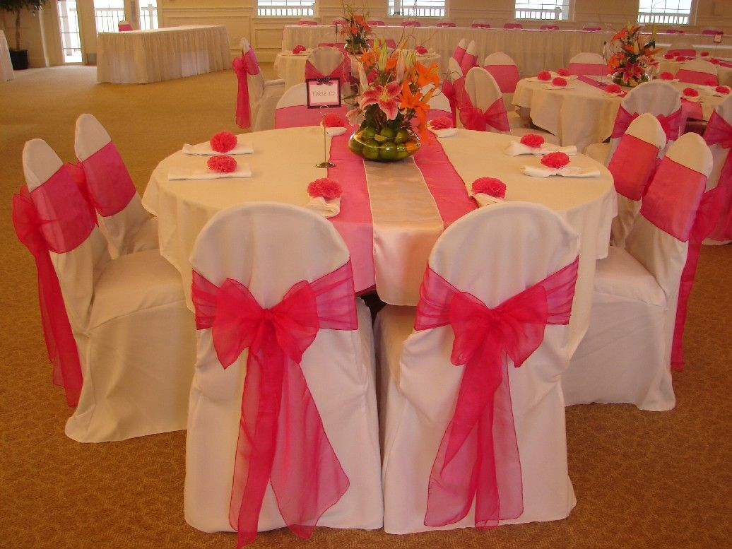 Hot Pink Table Decorations And Beautiful