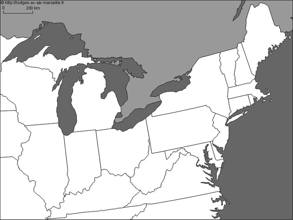 Blank Map Of Great Lakes Region For Thomas Edison Young Inventor - Map of northeastern us