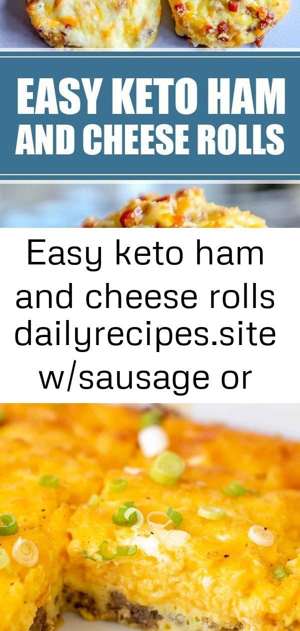 Easy Keto Ham and Cheese Rolls te w/sausage or bacon - Ham - Ideas of Ham - Easy Keto Ham and Chees