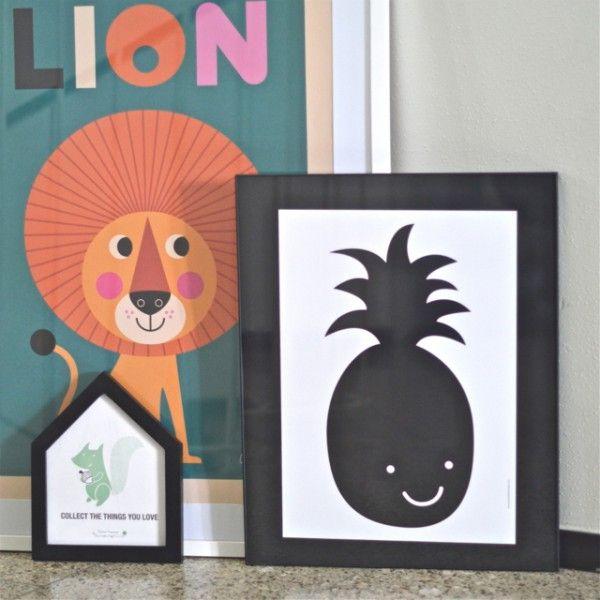 Affiche Ananas Studio Jolis mômes - deco-graphic.com