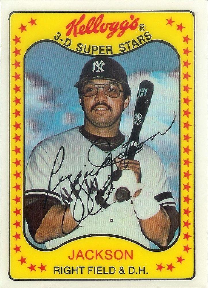 1981 Kelloggs 3 D Super Stars Reggie Jackson Baseball Card