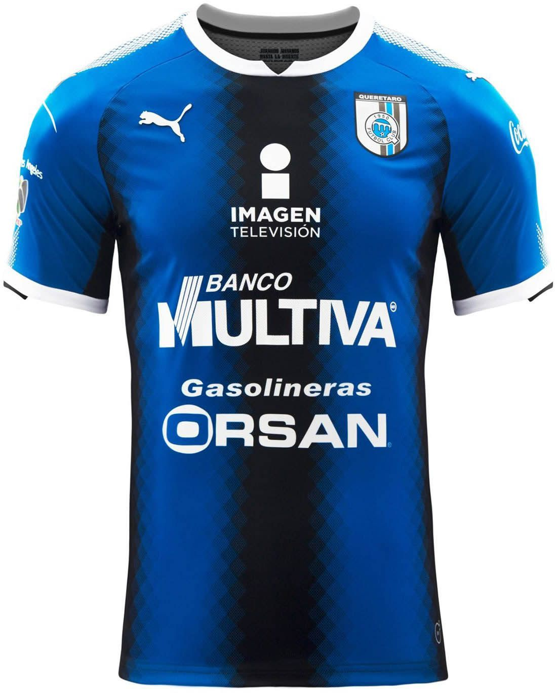 The new Puma Club Querétaro 17-18 home jersey introduces an outstanding  look. 1c1b6447c2a98