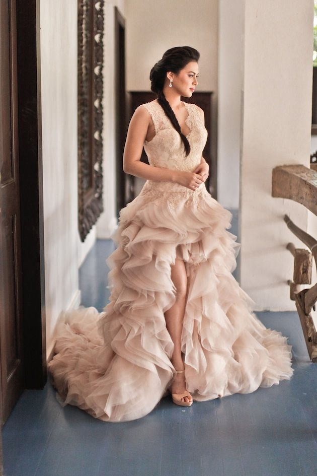 Precious Lara Quigaman\'s Wedding | Blush pink, Ruffles and Philippines