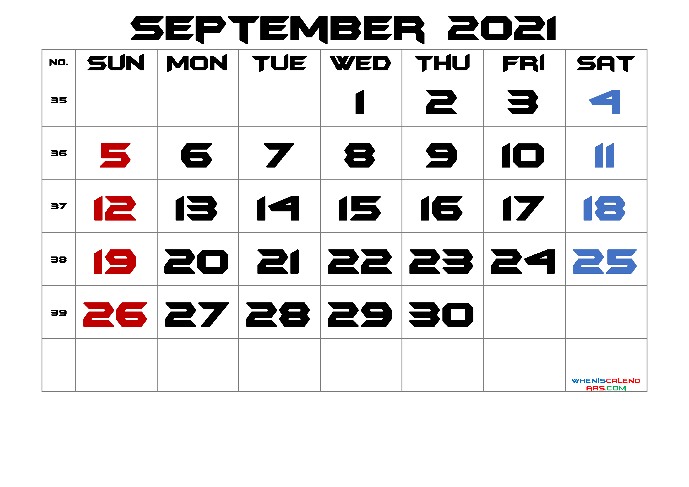 Free Printable September 2021 Calendar Premium In 2020 Calendar Printables March Free Printable Calendar Printable Calendar Template