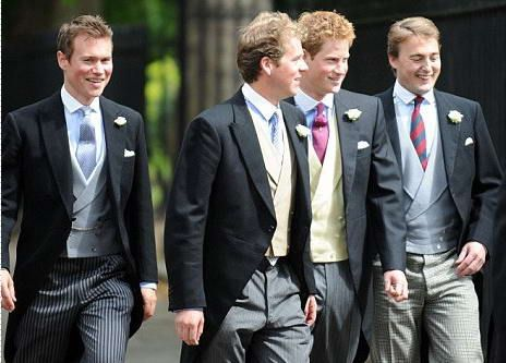 Dress code for the royal wedding uniforms morning coats for Morning wedding dress code