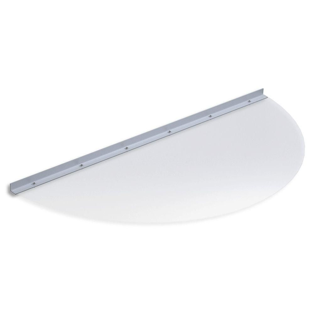 Ultra Protect 41 In X 19 In Semi Round Clear Polycarbonate