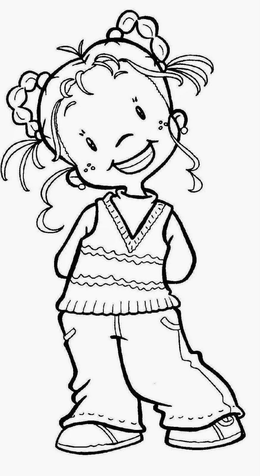 Dibujos De Ninos Y Ninas Para Colorear Con Imagenes Dibujos