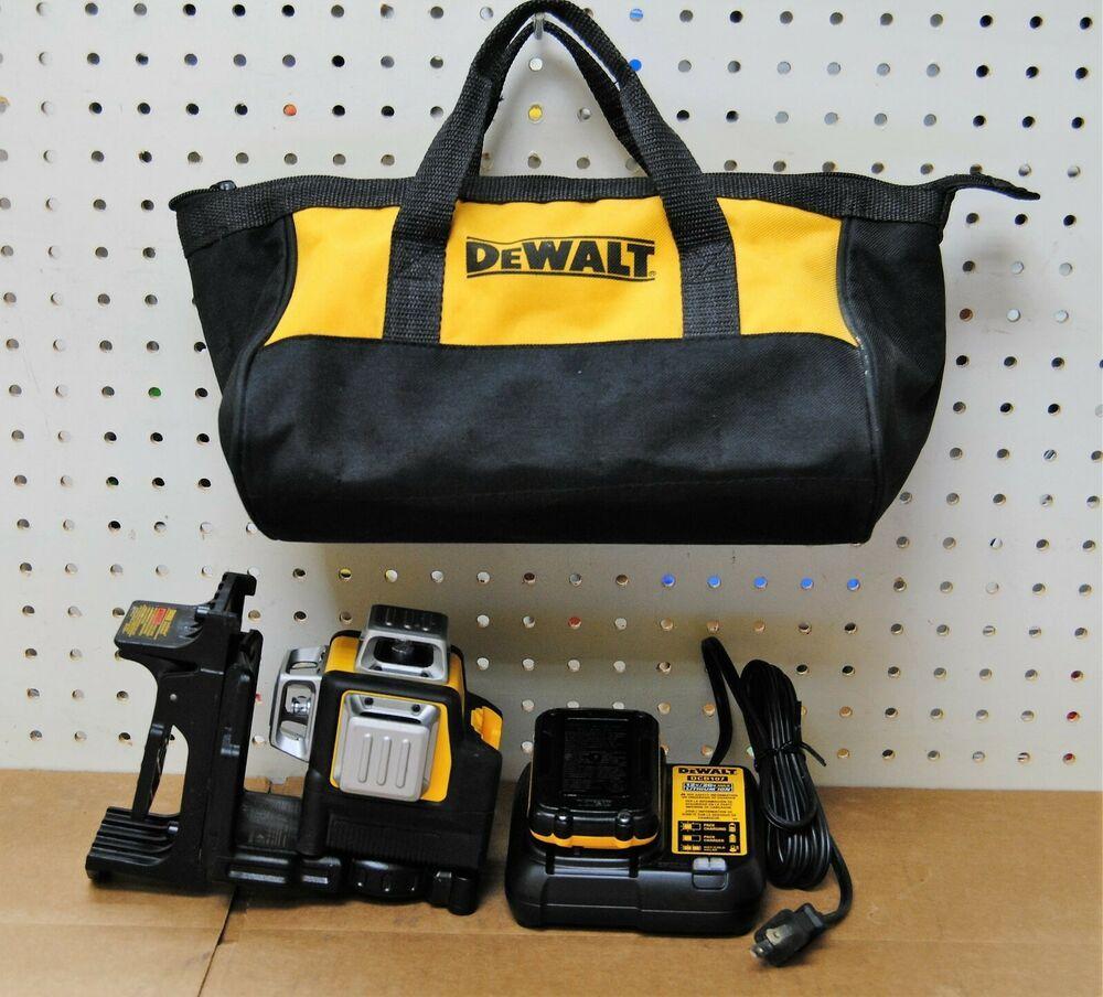 Dewalt Dw089lg Green Line Laser 2 12v W Bracketcharger Battery Bag 72 Bids