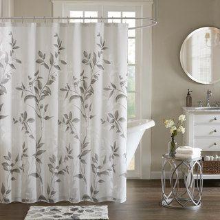 Madison Park Vera Grey Printed Shower Curtain