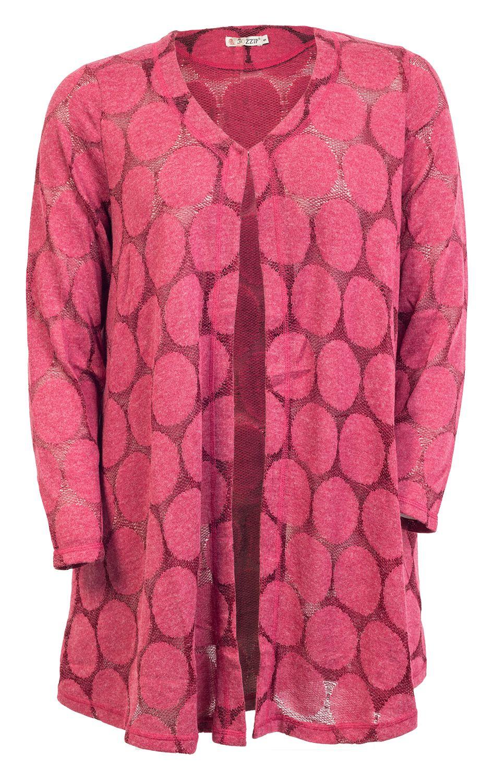 b0a18cfa Super lækre Lang cherise rød cardigan i strik Gozzip Modetøj til Damer i  luksus kvalitet