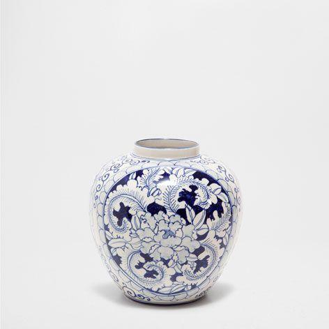 vase motif bleu vases d coration zara home france d core vases maison et mood. Black Bedroom Furniture Sets. Home Design Ideas