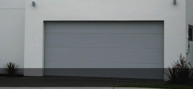 Flatline Smooth Colorsteel Garage Door In Sandstone Grey Colour