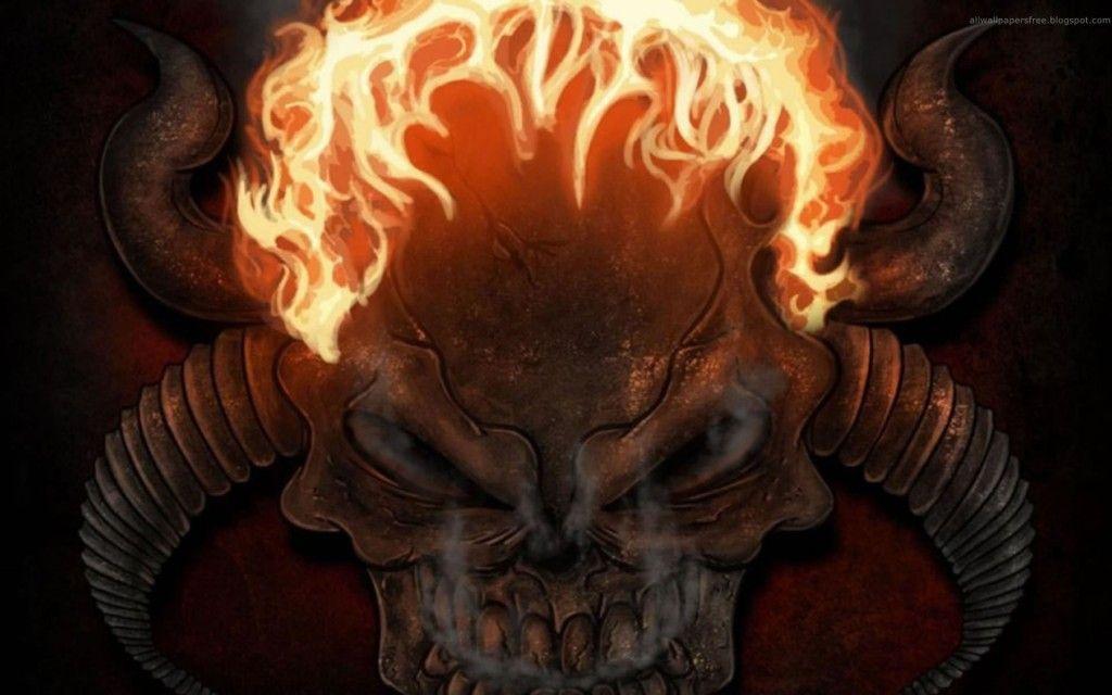 De Demonios Fondos De Pantallas De Calaveras Con Fuego Y