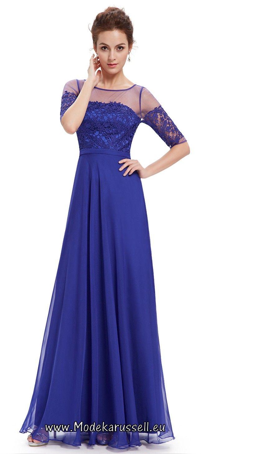 Halbarm Vintage Maxi Abendkleid 2017 Soraya Blau   Dresses   Pinterest