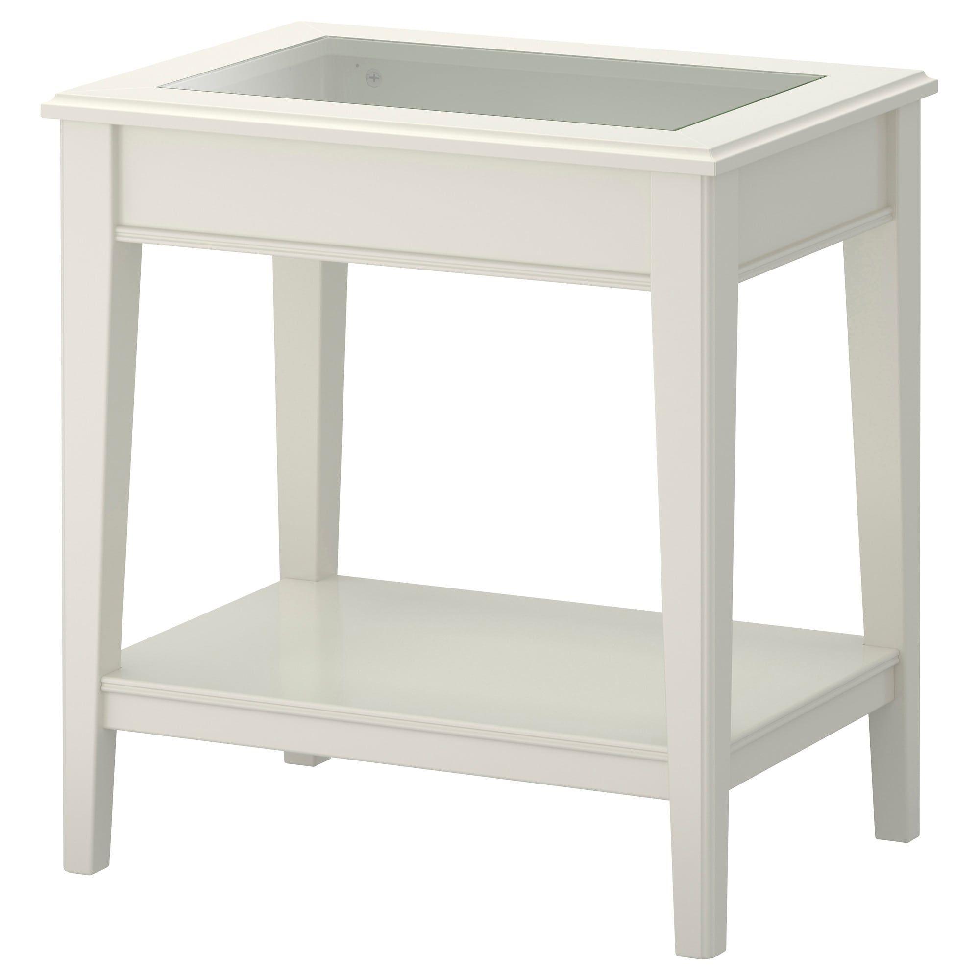 Liatorp Side Table White Glass 22 1 2x15 3 4 Ikea Ikea