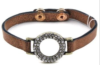 The Halo Leather/Crystal Bracelet    *** New Style *** 1/4 THICK AND 8 INCH LONG FAUX LEATHER STRAP STUDDED RING ADJUSTABLE BRACELET    Color Options:      Brown Leather / Clear Crystals  Black Pewter Leather / Clear Crystals      FREE SHIPPING IN USA! | Shop this product here: http://spreesy.com/RevivalandGraceBoutique/75 | Shop all of our products at http://spreesy.com/RevivalandGraceBoutique    | Pinterest selling powered by Spreesy.com