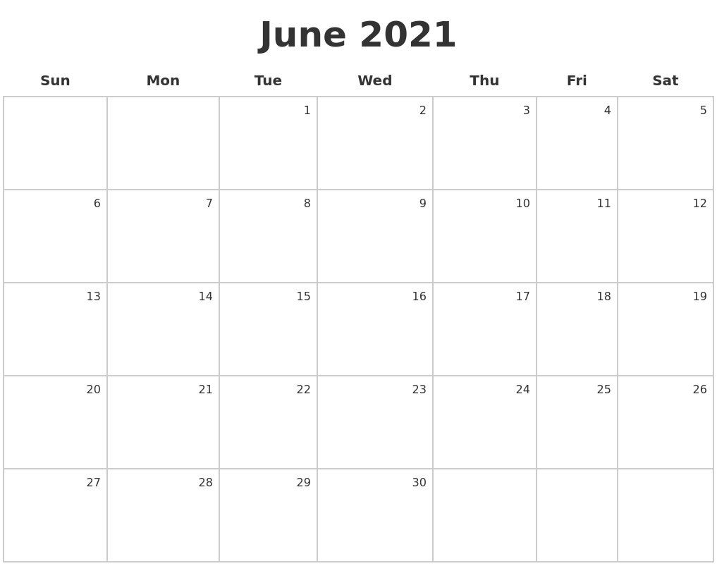 June Calendar 2021 Monthly Calendar Printable Calendar Printables Calendar 2019 Printable