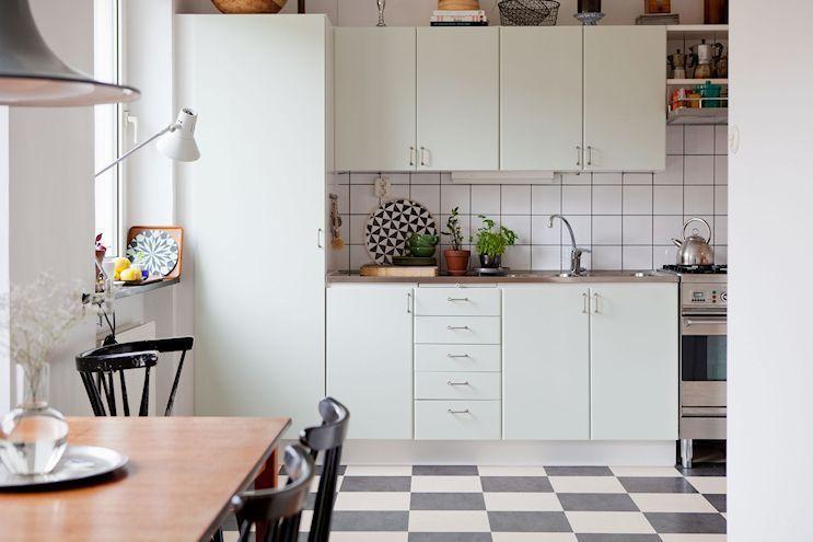 Departamento De 2 Ambientes En Estilo Nordico Y Vintage Estilos Deco Interior De Cocina Cocinas De Casa Decoracion De Cocina