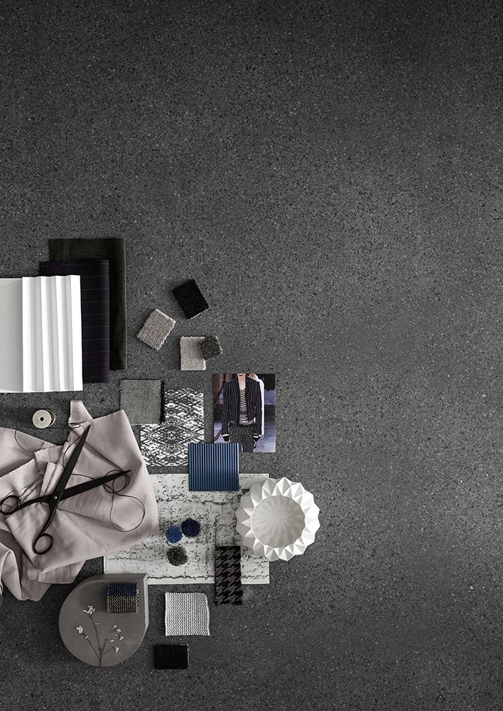 Rawline Scala #moodboard  #Inspiration: The basic and linear look of denim. The classic stitch of a gentleman's suit. The folded and pleated fabrics with reflections of light and dark. The mélange patterns that offer a soft, practical touch. The worn, vintage textiles with a unique story and play of colours.