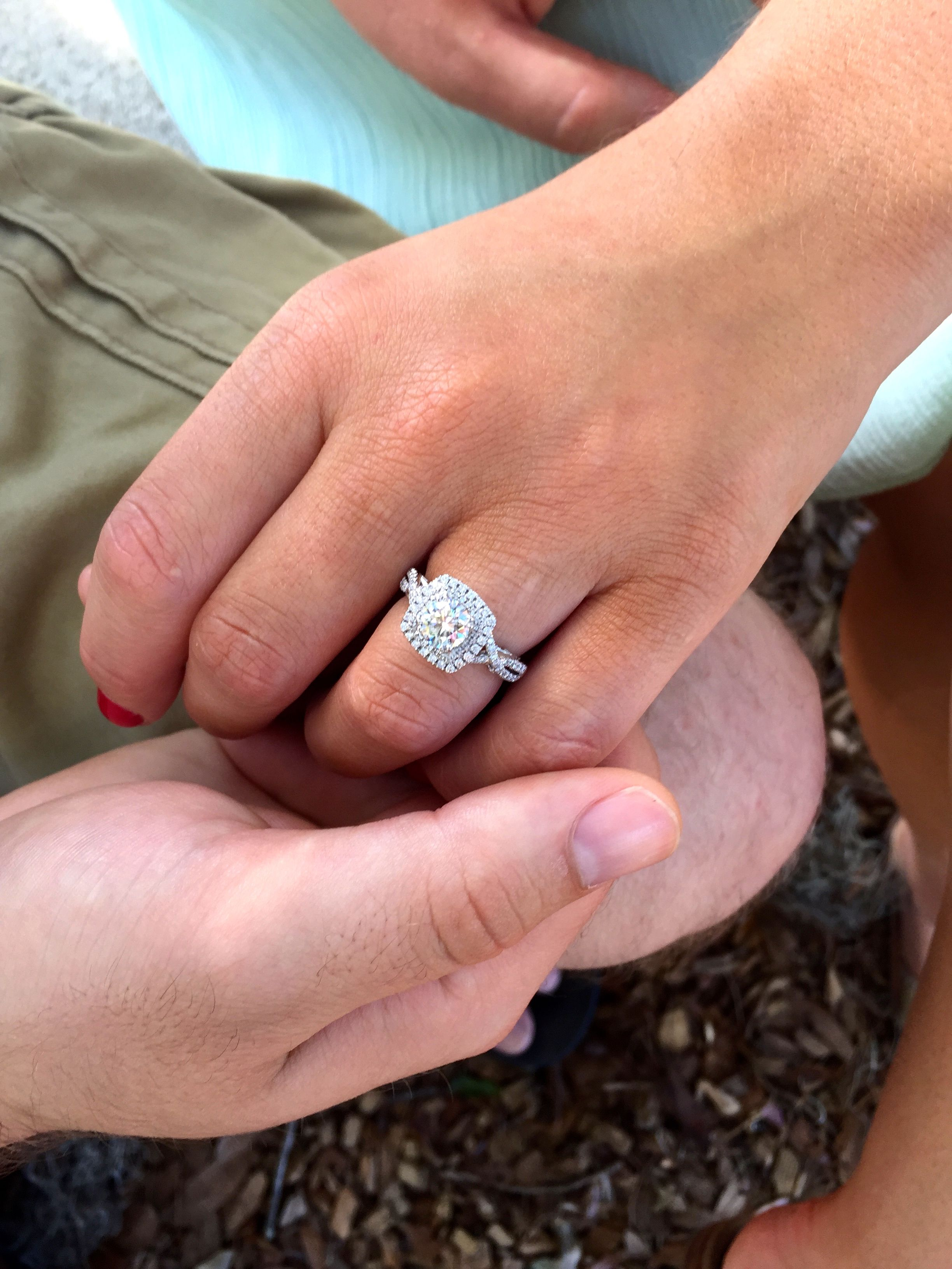 My beautiful engagement ring-- Verragio double halo with a 1.05ct ...