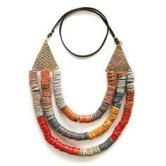 Three Strand Terra Necklace