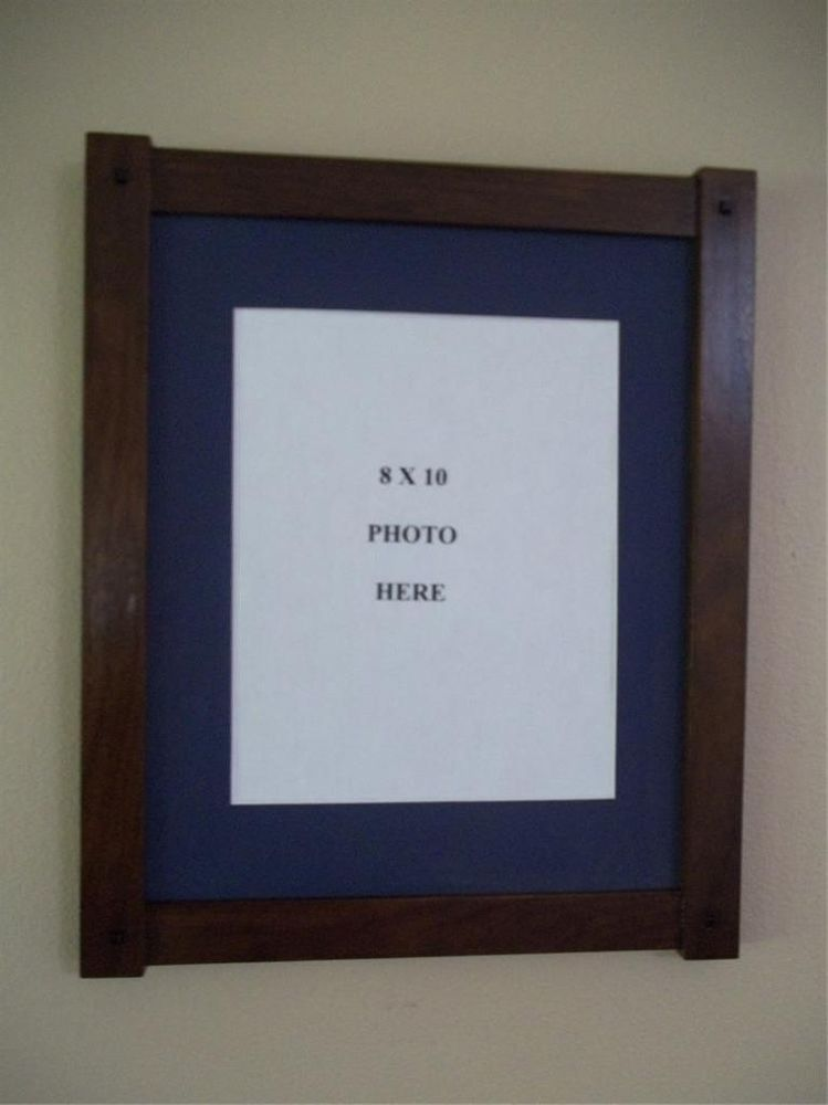 11x14 Walnut Half Lap Constructed Arts Crafts Picture Frame With