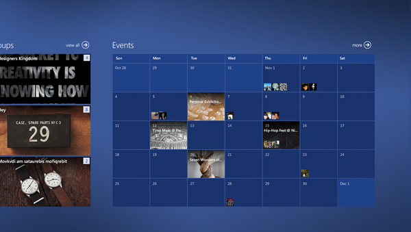 Facebook on Windows 8 by Shalva Bukia, via Behance