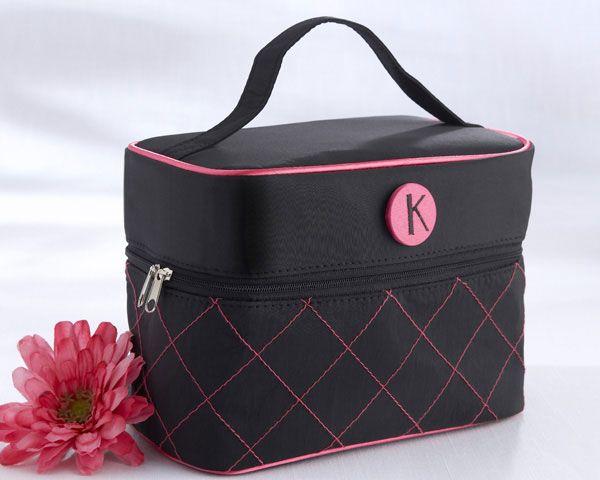 """The Cosmopolitan"" Monogrammed Cosmetic Travel Bag"