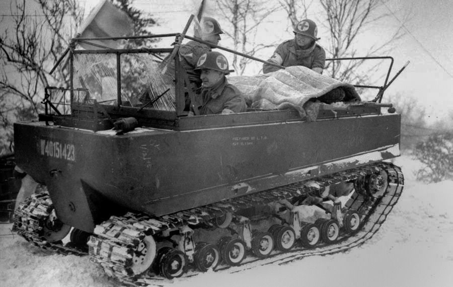 medics using a m29 weasel to evacuate wounded in the hürtgen forest weasel sets medics using a m29 weasel to evacuate wounded in the hürtgen forest december, 1944