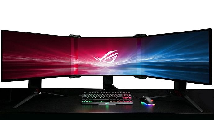 Asus Magically Turns Three Monitors Into One Big-Ass Seamless Display - Geek.com